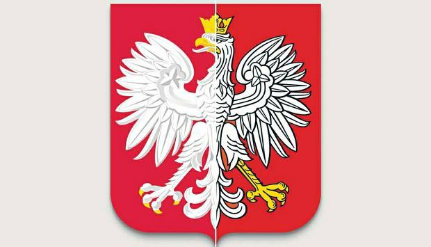 Lewa część ilustracji przedstawia obowiązujący wizerunek Orła Białego w herbie Polski, a prawa uwzględnia zmiany zaproponowane w nim przez heraldyków