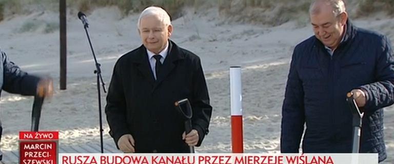 Kaczyński na uroczystości na Mierzei Wiślanej: Mamy pełne prawo zakończyć proces tyczenia