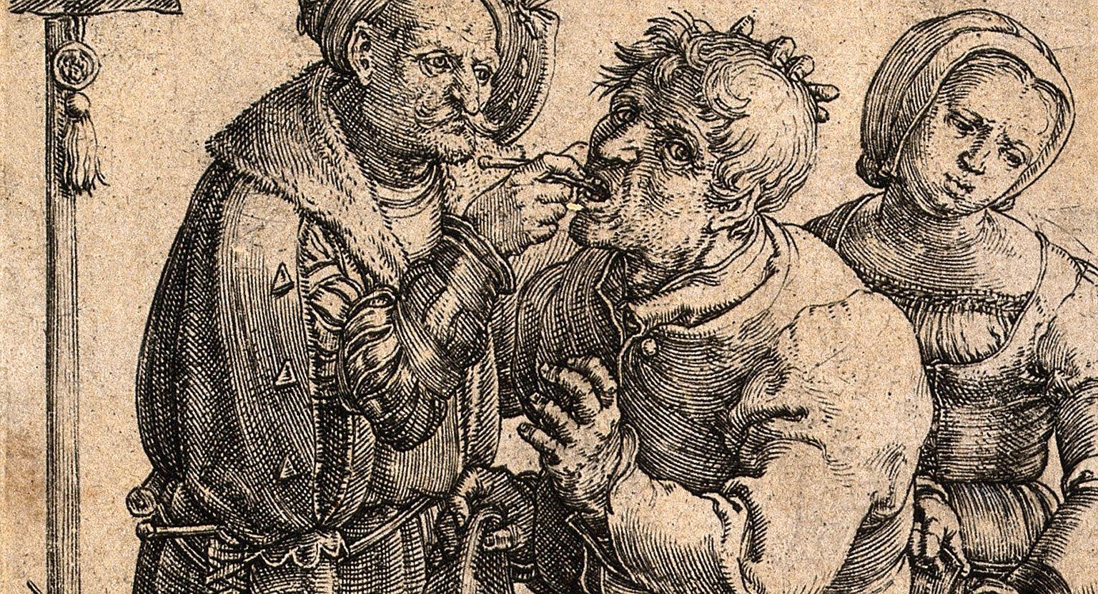 Rycina Lucasa van Leydena z 1523 r.