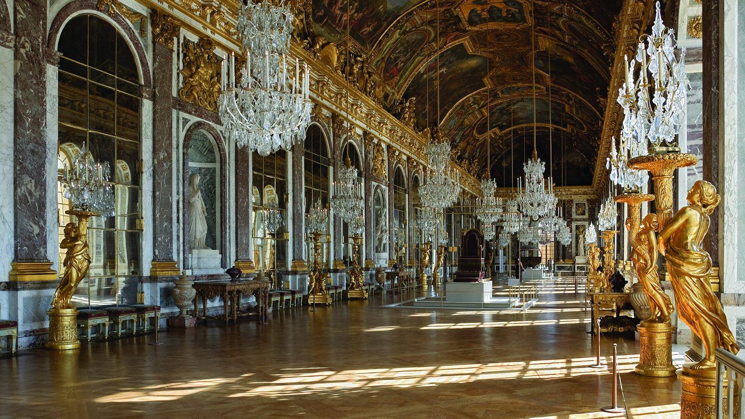 Wersal. Sala Lustrzana wykończona w 1684 r.