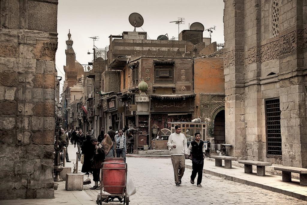 Jedna z ulic w Kairze, Egipt