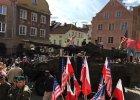 """Żołnierze z USA w Olsztynie. Przywitały ich protesty. """"Tu jest Polska, nie Ameryka"""""""