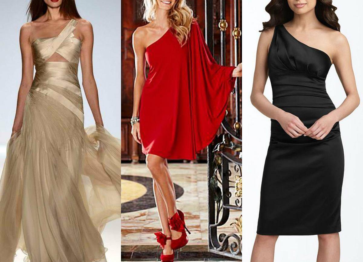 3a8f487a64 Sukienka na jedno ramię - gotowe stylizacje wieczorowe