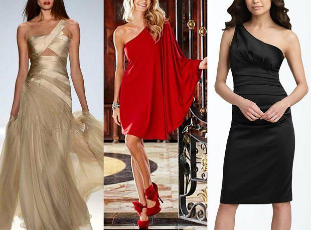 7fd0872e93 Sukienka na jedno ramię - gotowe stylizacje wieczorowe