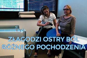 Krioterapia miejscowa - łagodzi ból, pozwala wykonywać ćwiczenia rehabilitacyjne