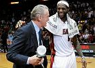 Prezes Miami Heat Pat Riley i LeBron James