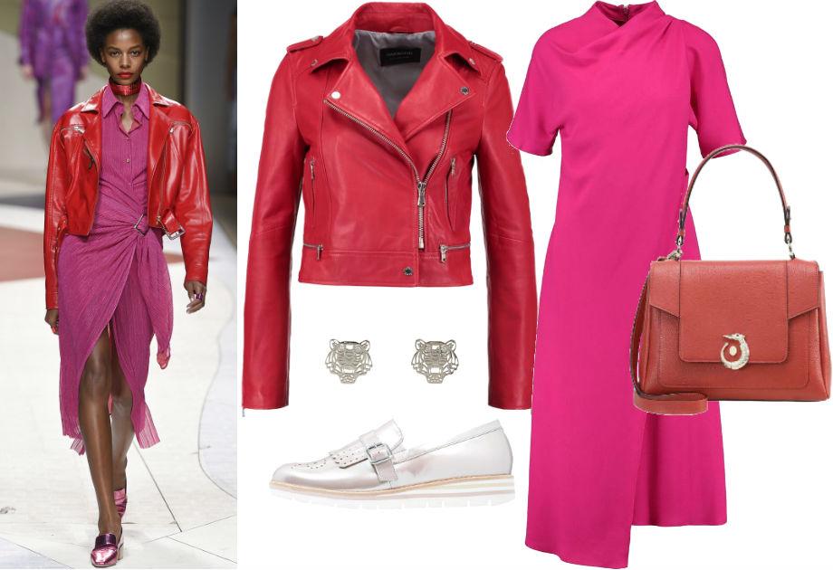 Czerwony i różowy w jednej stylizacji