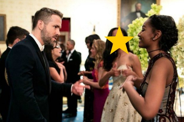 Ryan Reynolds, Malia Obama, Sasha Obama