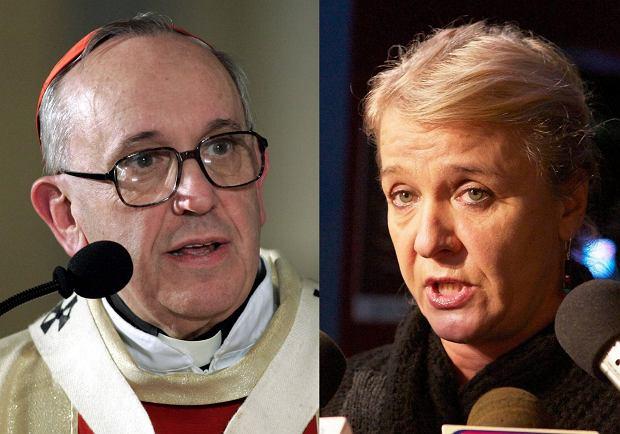Papież Franciszek i Ewa Wójciak
