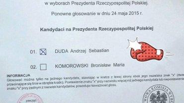 Małgorzata Jacyna-Witt po godz. 21 pochwaliła się, na kogo głosowała... Ale cisza wyborcza była przedłużona do godz. 22.30