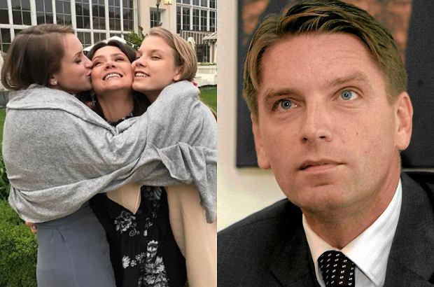 Kinga Rusin z córkami, Tomasz Lis