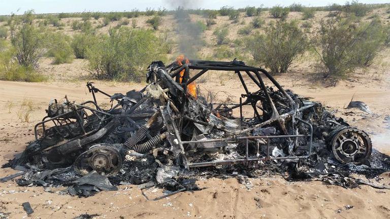 Spalony samochód Adama Małysza