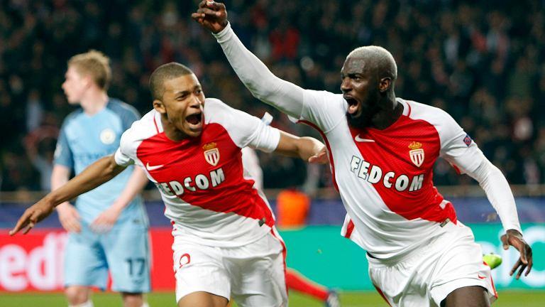 Tiemoue Bakayoko i Kylian Mbappe po trzceim golu dla Monaco