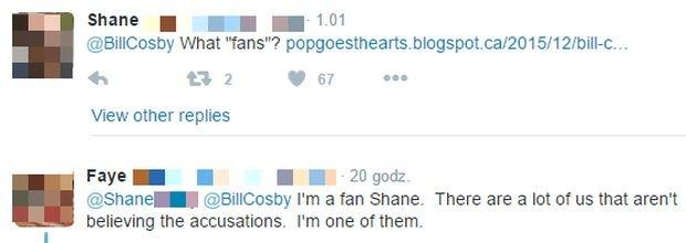 Komentarze na Twitterze Billa Cosby'ego