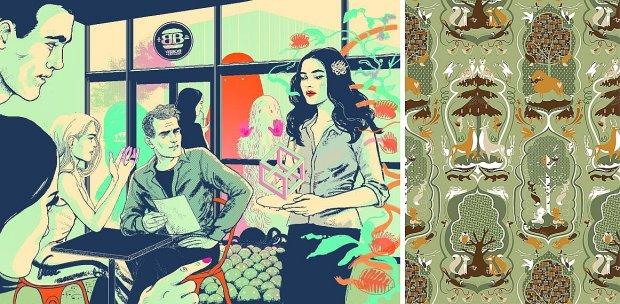 ''Bobby Burger'', praca Agaty Nowickiej i tapeta autorstwa Katarzyny Boguckiej