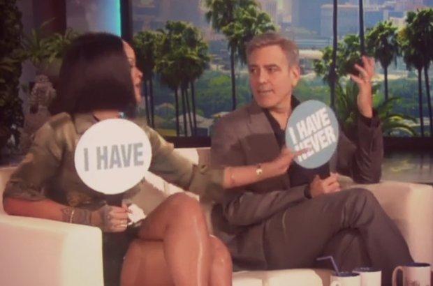 Rihanna, George Clooney