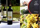 Winogrona w kieliszku i na talerzu. Jesie� w winnicy Mierz�cin