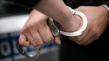 Zatrzymanie podejrzanego przez policję (zdjęcie ilustracyjne)