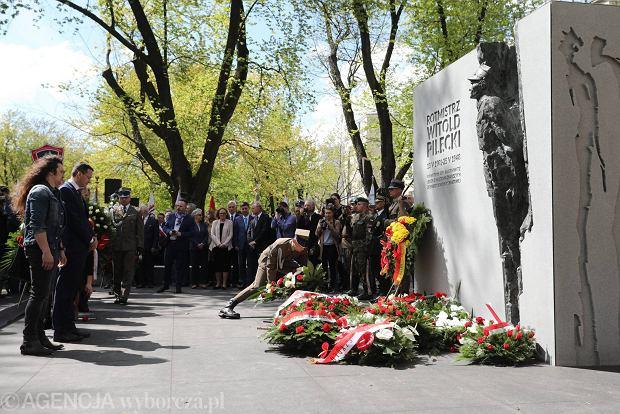 Żoliborz. Pomnik rotmistrza Witolda Pileckiego odsłonięty