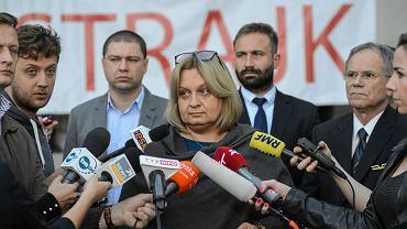 EKonferencja prasowa w Warszawie zwiazkowcow przed strajkiem w PLL LOT