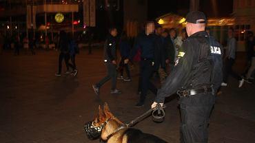 Akcja policji podczas połowinek w Sopocie