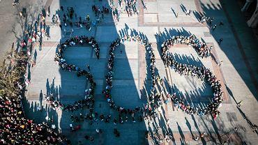 Antysmogowy happening na Rynku. S.O.S. dla Krakowa