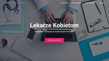 Screen ze strony www.lekarzekobietom.pl
