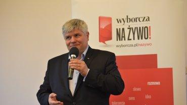 Dr Maciej Lasek podczas spotkania zorganizowanego przez Gazetę Wyborczą Trójmiasto