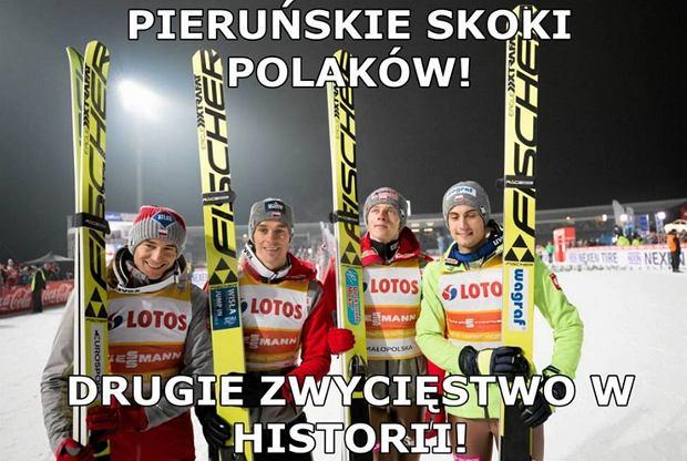 Zdjęcie numer 0 w galerii - Skoki narciarskie. PŚ w Willingen. Memy po zwycięstwie Polaków