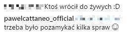 Komentarze na profilu Pawła Cattaneo z 'Warsaw Shore'