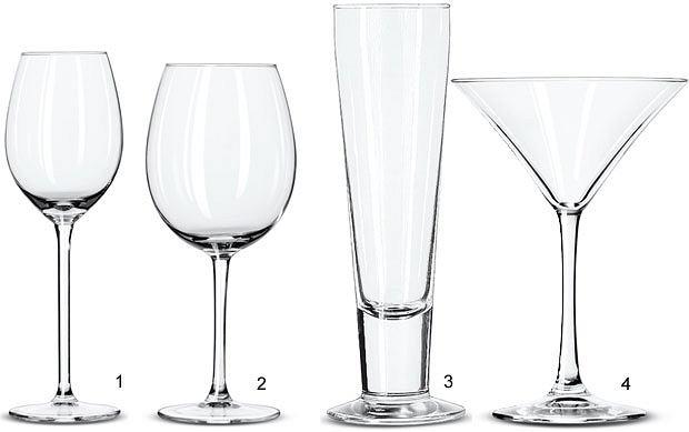 alkohol, gadżety, Alkohol: jak wyposażyć domowy barek, Kieliszki