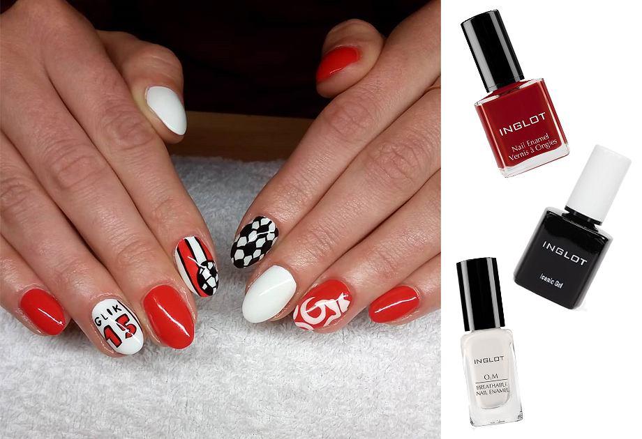 Mundialowe paznokcie - manicure w barwach biało-czerwonych