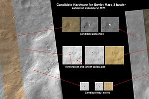 Mi�o�nicy kosmosu wypatrzyli szcz�tki radzieckiej sondy marsja�skiej z 1971 r.