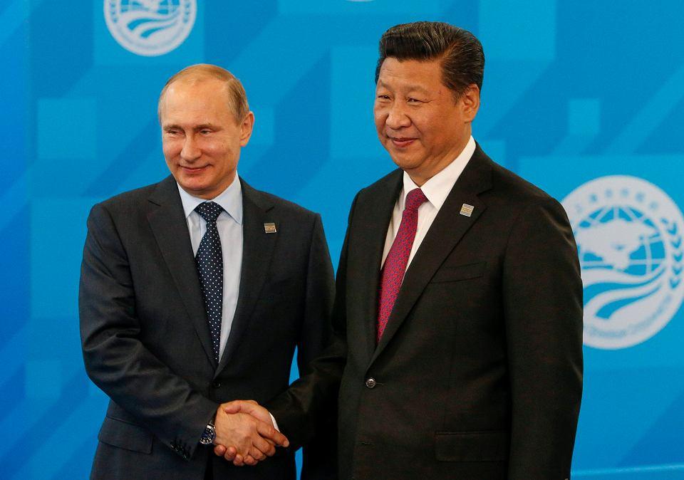 Prezydent Rosji Władimir Putin i prezydent Chin Xi Jinping