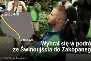 Bartek jest niepełnosprawny, ale nie ma dla niego rzeczy niemożliwych. Przejedzie 900 kilometrów na wózku