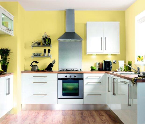 Szary z żółtym we wnętrzach  modne i nowoczesne połączenie  zdjęcie nr 5 -> Castorama Kuchnia Plytki