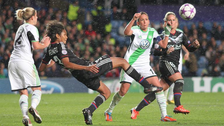 Finał Ligi Mistrzyń Olympique Lyon - VfL Wolfsburg 0:1. Wendie Renard, Amandine Henry
