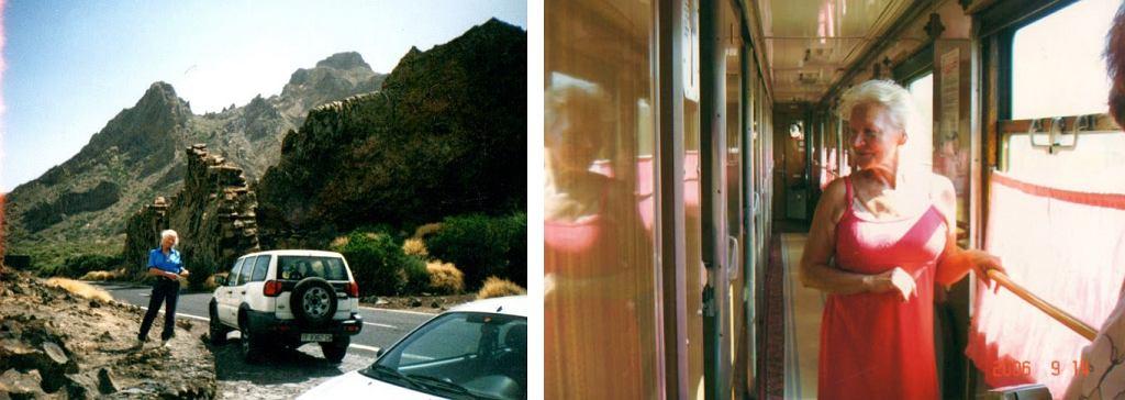 Podczas podróży: na wyspie La Gomera i w pociągu Kolei Transsyberyjskiej (fot. archiwum prywatne)