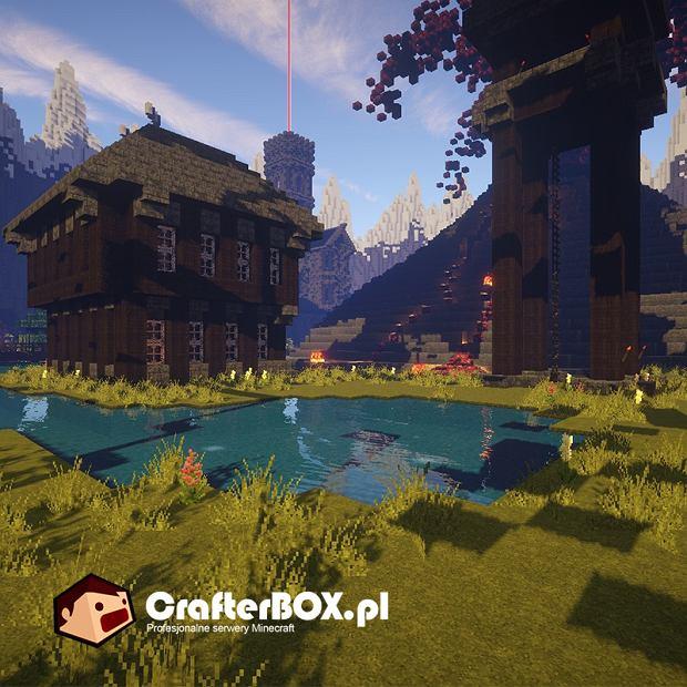 Przykład budowli z Minecrafta