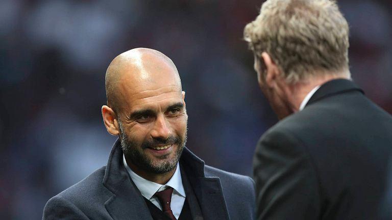 Pep Guardiola i David Moyes