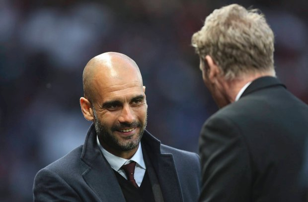 Pep Guardiola i David Moyes
