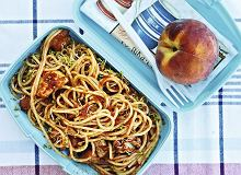 Spaghetti z kurczakiem i pomidorami - ugotuj