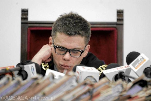 S�dzia Igor Tuleya podczas og�aszania wyroku ws. dr. Miros�awa G.
