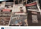 """Media oddaj� ho�d """"Charlie Hebdo"""". Symboliczne ok�adki dziennik�w dzie� po zamachu"""