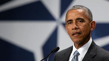Barack Obama podczas konferencji prasowej na zakończenie szczytu NATO