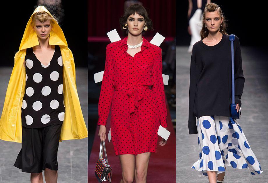 Ubrania w grochy - polka dots