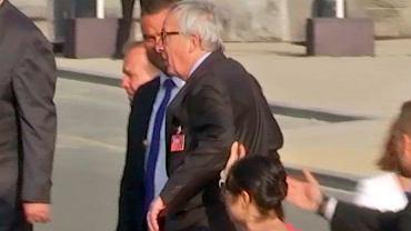 Szczyt NATO w Brukseli. Jean-Claude Juncker twierdzi, że miał skurcz nogi