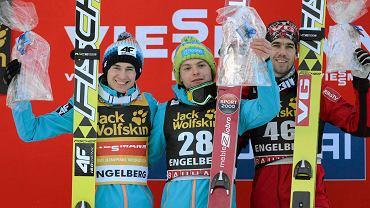 Kamil Stoch, Jan Ziobro i Andreas Bardal