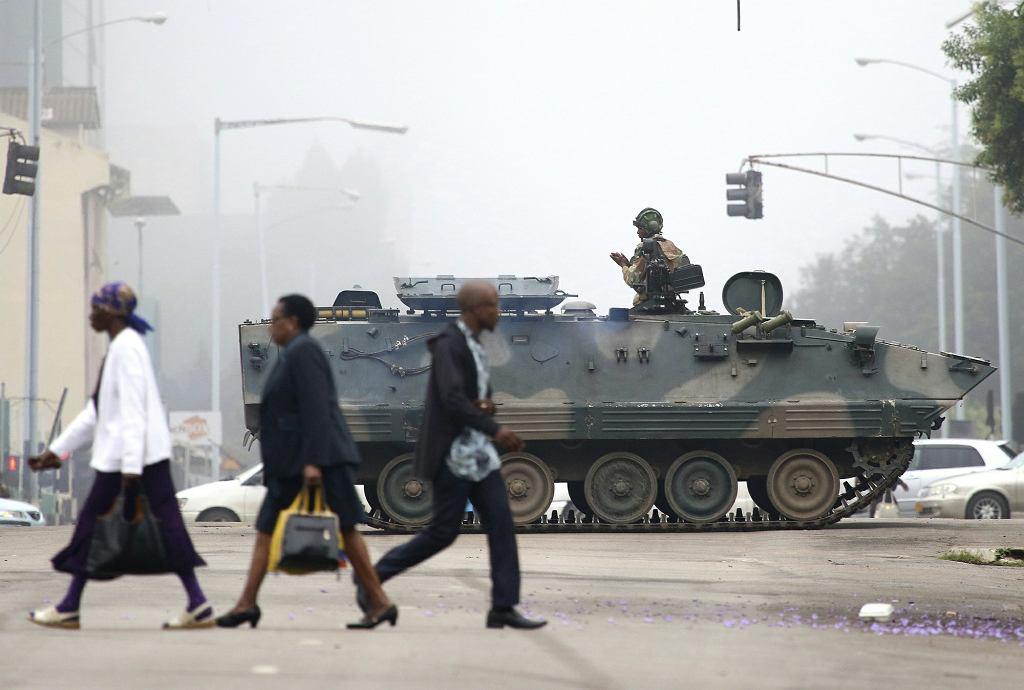 Wojsko na ulicach stolicy Zimbabwe