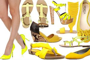 Letnie buty w kolorze żółtym - ponad 60 propozycji